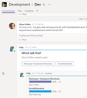 Microsoft Teams application Polly