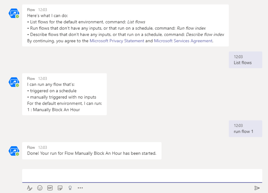 The Flow Bot in Microsoft Teams