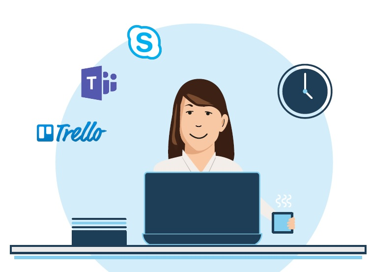 A Project Manager keeping organised using Trello, Microsoft Teams and Skype for Business