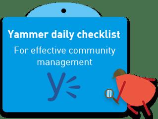 Yammer-daily-checklist