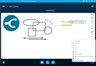 Skype for Business whiteboard